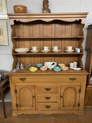 Maple kitchen hutch china display cabinet for Sale in Beaver Falls, PA