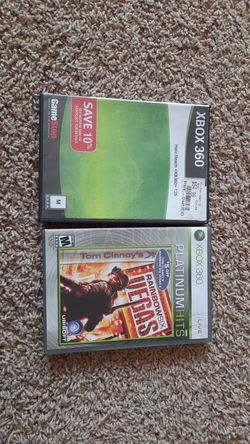 Halo reach and rainbow six Vegas xbox 360 games for Sale in Wenatchee,  WA