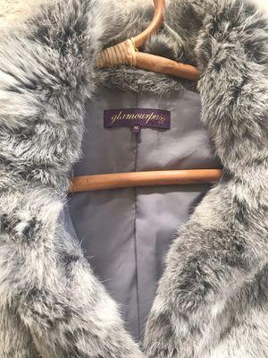Real fur. White and gray for Sale in Reston, VA