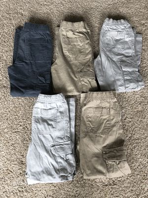 5 pair Boys Cargo pants size 8 for Sale in Wenatchee, WA