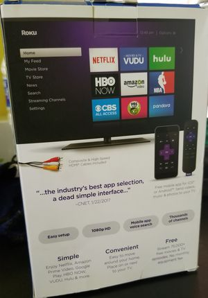 roku tv new in the never used box includes everything for Sale in Lakewood Township, NJ