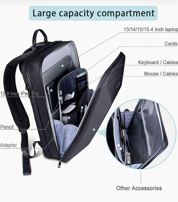 New Semi-Hard and Light Laptop Backpack Fits for Most 15.6 inches Laptop and Notebook, 16 inch MacBook