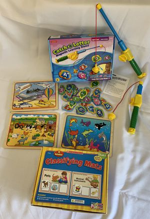 Pre-School learning games and puzzles Lakeshore / Scholastic for Sale in San Marcos, CA