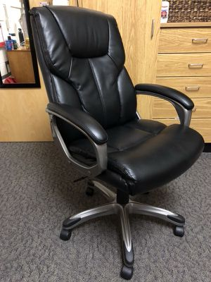 Leather desk chair for Sale in Alexandria, VA