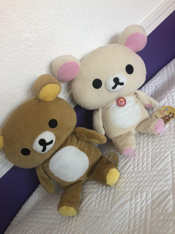 Rilakkuma plush x2 bear plush