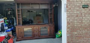 Solid wood entertainment center for Sale in Parma, OH