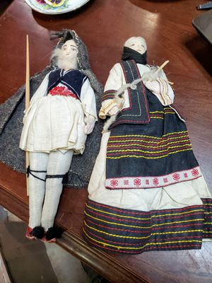 "Antique Hand Painted Cloth 11"" Greek Dolls for Sale in Tucson, AZ"