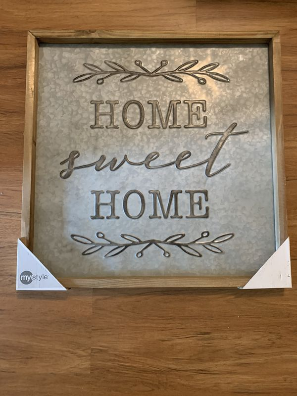Home Decor Home Sweet Home Wall Decor 24x24inches