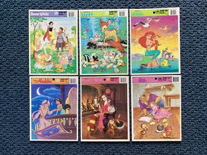 6 Vintage Walt Disney's Classic Golden frame-tray puzzle's for Sale in Lancaster, OH