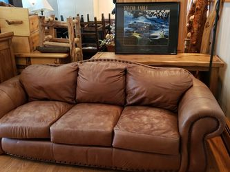 Leather Couch, Loveseat And Oversize Chair And Ottoman for Sale in Golden,  CO