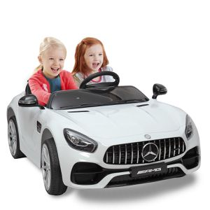 🎉🎉BRAND NEW 12V LUXURY REMOTE CONTROL Electric Kid Ride On Car Power Wheels Mercedes GT 2 SEATER with FM RADIO for Sale in La Mirada, CA