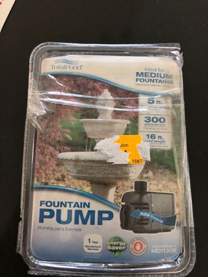 300 GPH Pond and Fountain Pump for Sale in Glendale, AZ
