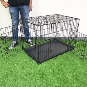 """(NEW) $45 Folding 36"""" Dog Cage 2-Door Pet Crate Kennel w/ Tray 36""""x23""""x25"""" for Sale in El Monte, CA"""