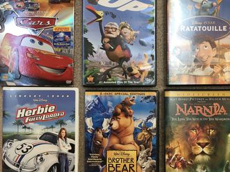 Disney DVDs Cars, Up, Ratatouille , Herbie, Brother Bear, Narnia for Sale in Issaquah,  WA