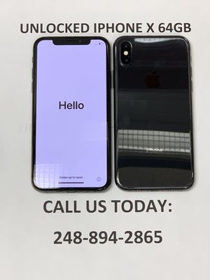 SALE: Unlocked iPhone X 64gb Used Black Excellent Condition for Sale in Royal Oak, MI