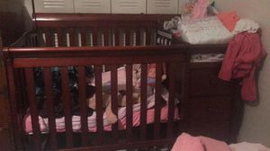 Crib w/ changing table and 3 shelves and 3 drawers for Sale in Bradenton, FL