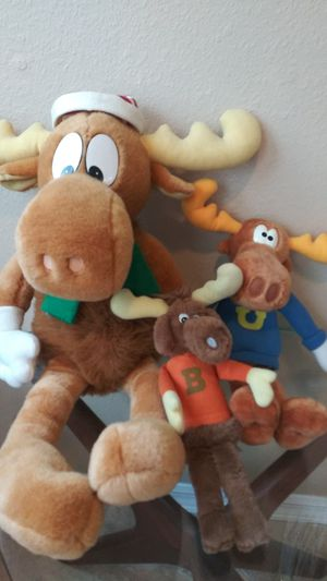 3 Vintage Bullwinkle Plush Toys Collectible for Sale in Trinity, FL
