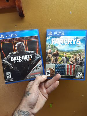 Ps4 games cod black ops 3 and far cry 4 for Sale in Charlotte, NC
