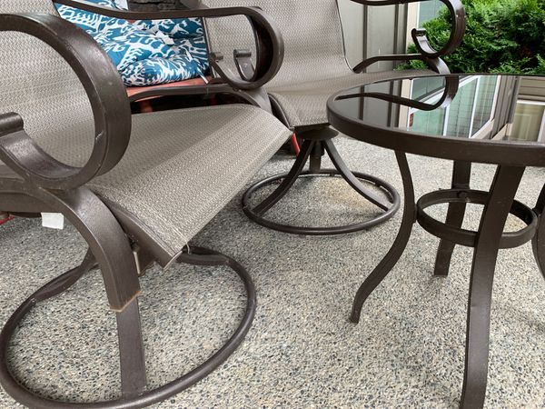 2 chair 1 table set Outdoor Furniture