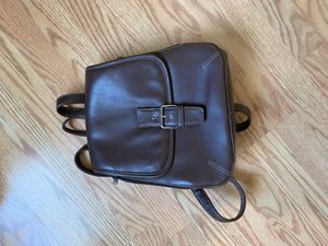 mini brown leather backpack for Sale in Harvey, MI