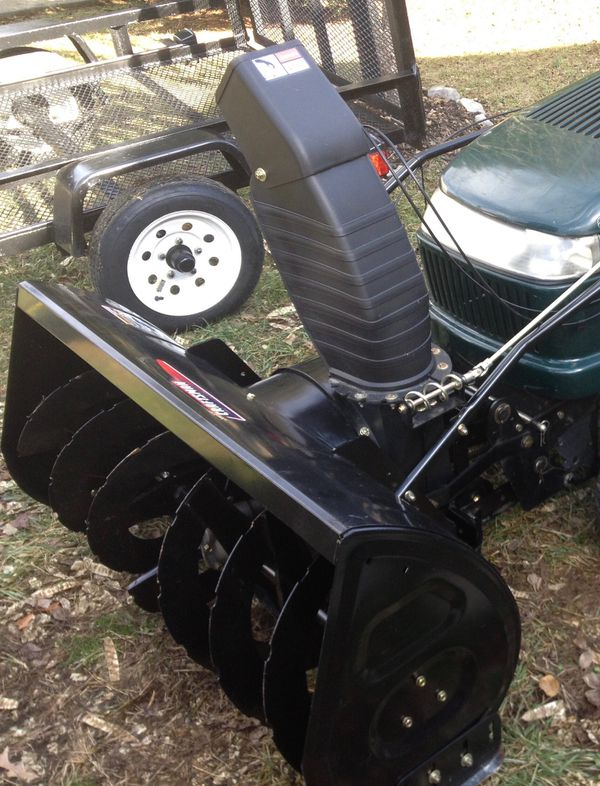 Sears 45 inch snow thrower attachment to riding mower