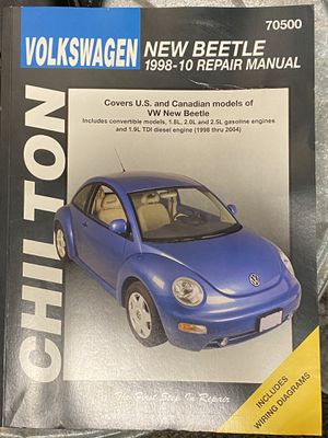 2006 Beetle chilltons repair manual and head light assembly for Sale in Puyallup, WA
