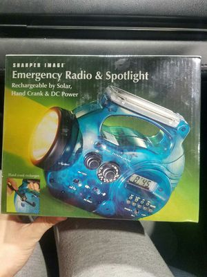 Electric Blue Emergency Radio & Spotlight for Sale in Fairfax, VA