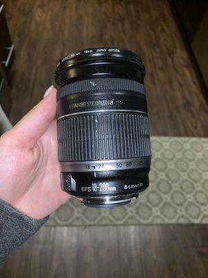 Canon Lense EFS 18-200mm for Sale in Morton Grove, IL