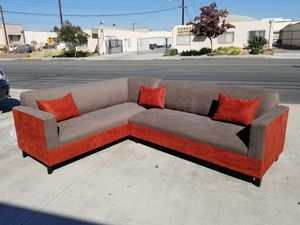 NEW 7X9FT BARCELONA MOCHA FABRIC COMBO SECTIONAL COUCHES for Sale in Las Vegas, NV