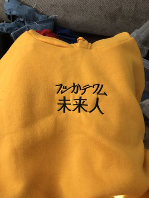 yellow hoodie (japanese writing) for Sale in Houston, TX