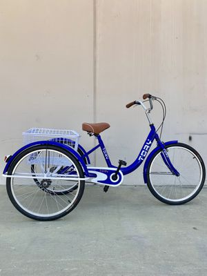 "24"" tricycle single speed brand new well assembled with big rear basket and big comfortable seat for Sale in La Habra, CA"