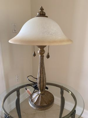 """Tiffany Style Lamp with Frosted Glass Shade and Iron Base 28""""ht. for Sale in South Miami, FL"""