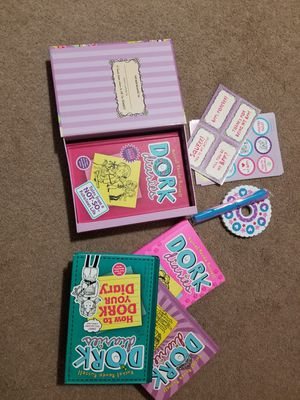 Dork diaries friendship Box and books for Sale in Los Angeles, CA