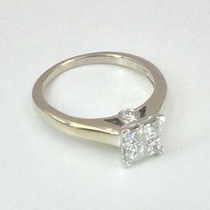 14K White Gold Engagement Ring Set (.70 cttw) for Sale in Atlanta, GA