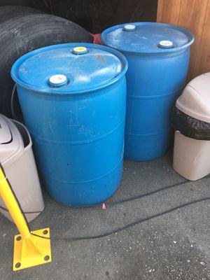 55gal blue plastic barrel drums for Sale in Fremont, CA
