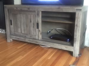 Macy's TV Stand - Light Brown - with inside shelf for Sale in Arcadia, CA