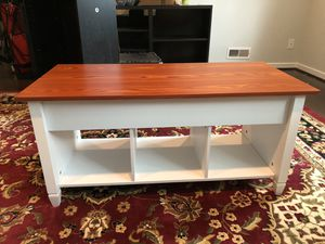 Lift top wooden Coffee Table with storage for Sale in Bethesda, MD