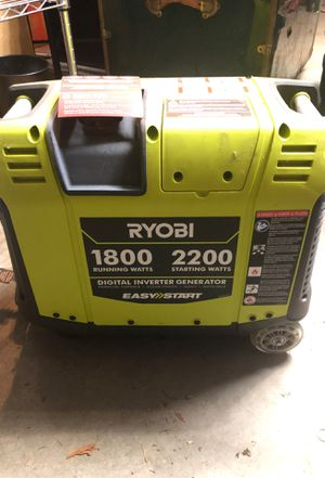 Ryobi 1800 Watt Generator new no box for Sale in Bellevue, WA