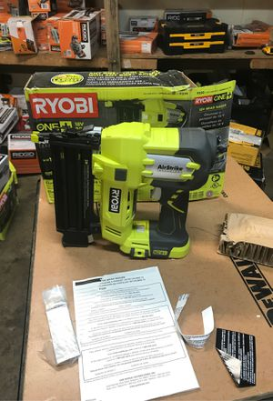 RYOBI 18-Volt ONE+ Cordless AirStrike 18-Gauge Brad Nailer (Tool Only) with Sample Nails for Sale in Fontana, CA
