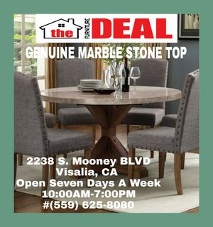 Genuine Marble Top Round Dining set for Sale in Visalia, CA