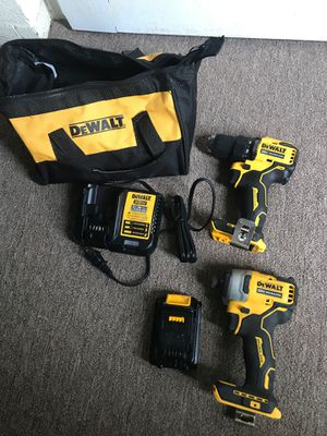 Dewalt 20v brushless kit. Comes with impact and regular drill charger and Battery. And soft case. Over 200$ new. for Sale in Wilson, NC