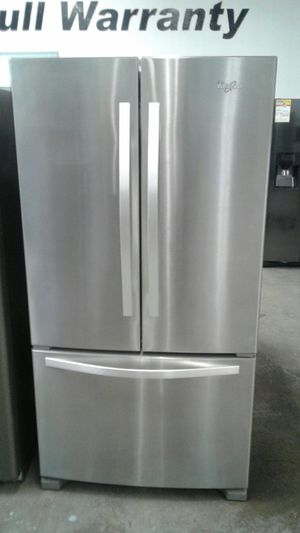 Whirlpool stainless steel french door refrigerator for Sale in Denver, CO