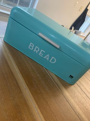 Turquoise bread box / bread container - kitchen decor for Sale in Germantown, MD