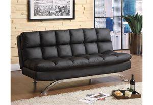 Black Futon Sofa – Faux Leather for Sale in Rancho Cucamonga, CA