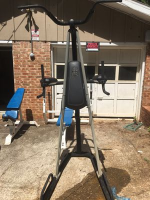 Body master weight bench and curl bench + gold gym pull up equipt for Sale in Stone Mountain, GA
