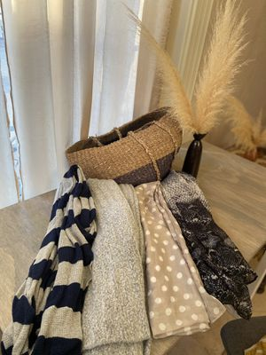 Boho beach bag/basket with scarves for Sale in Temecula, CA