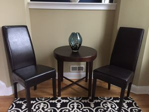 Chocolate leather parson chairs for Sale in Atlanta, GA