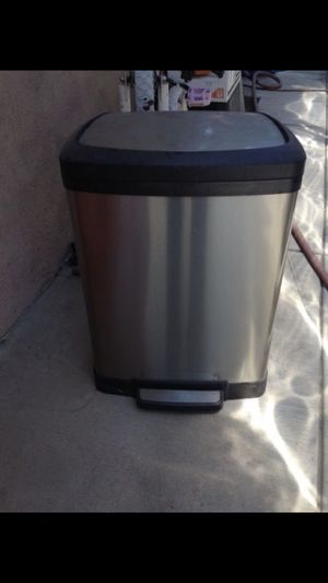 Stainless steel trash can for Sale in Azusa, CA