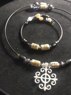 Exotic Matching Set- Necklace + Bangle for Sale in Bonita Springs,  FL