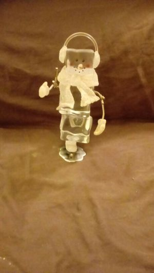 Square Crystal Snowman Ice Skater for Sale in OH, US